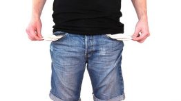 Leere taschen bei Privatinsolvenz
